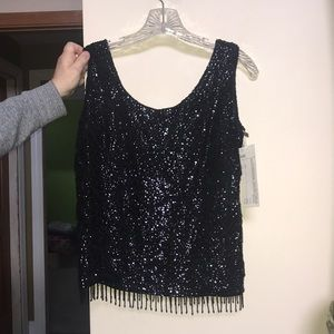 Vintage gatsby inspired beaded top